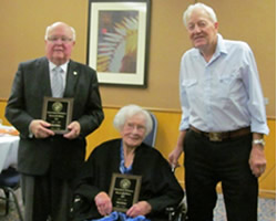 Life Members Allan Bailey 2013, Ruth Shaw 2013, & John Miller 1998